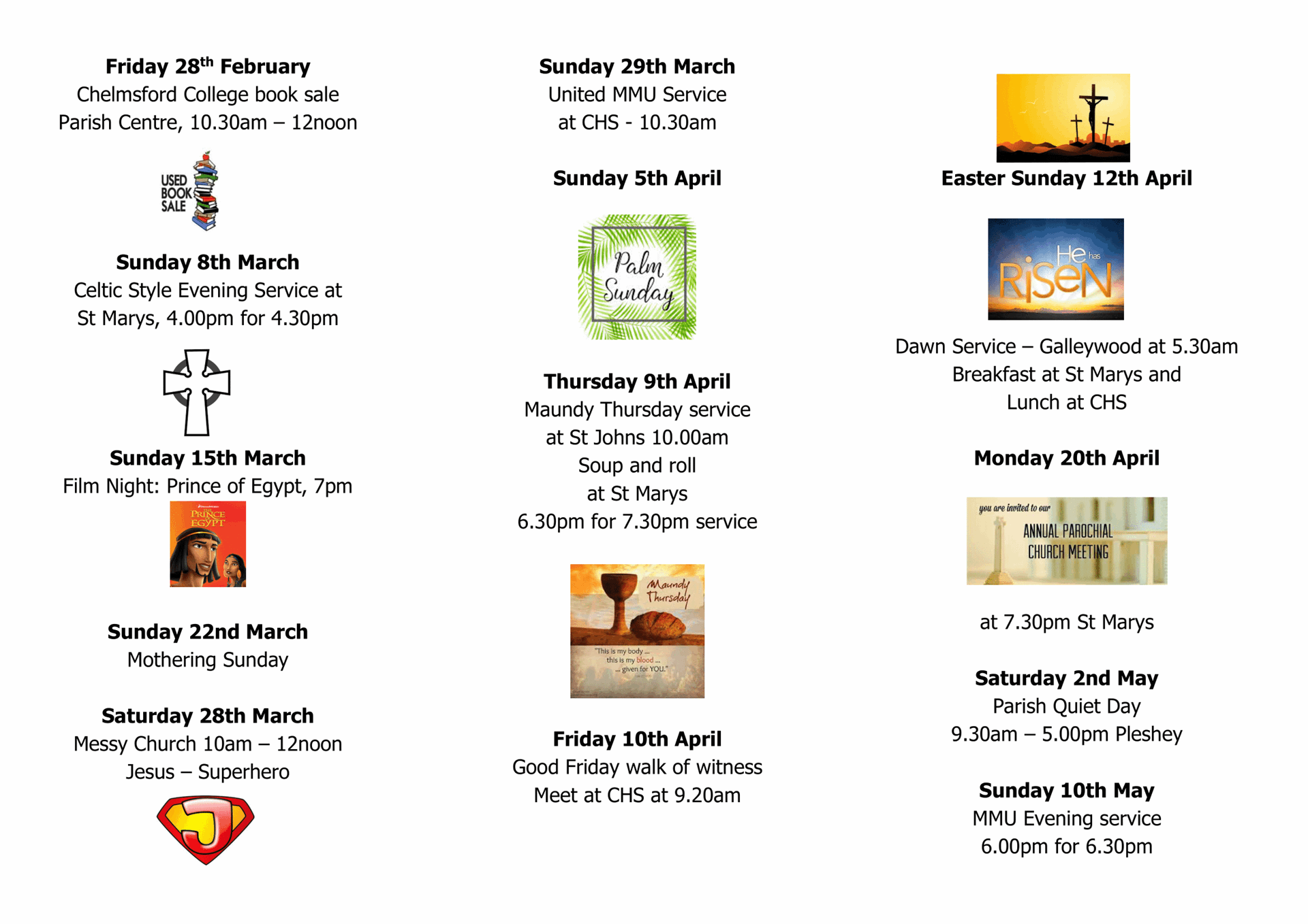 Forthcoming events 2020.3 21