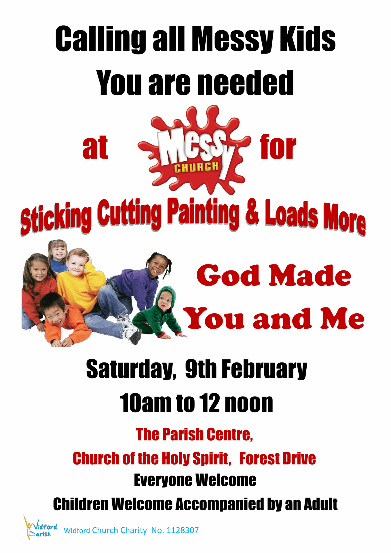 Poster Messy Church 09.02.19. A41 1